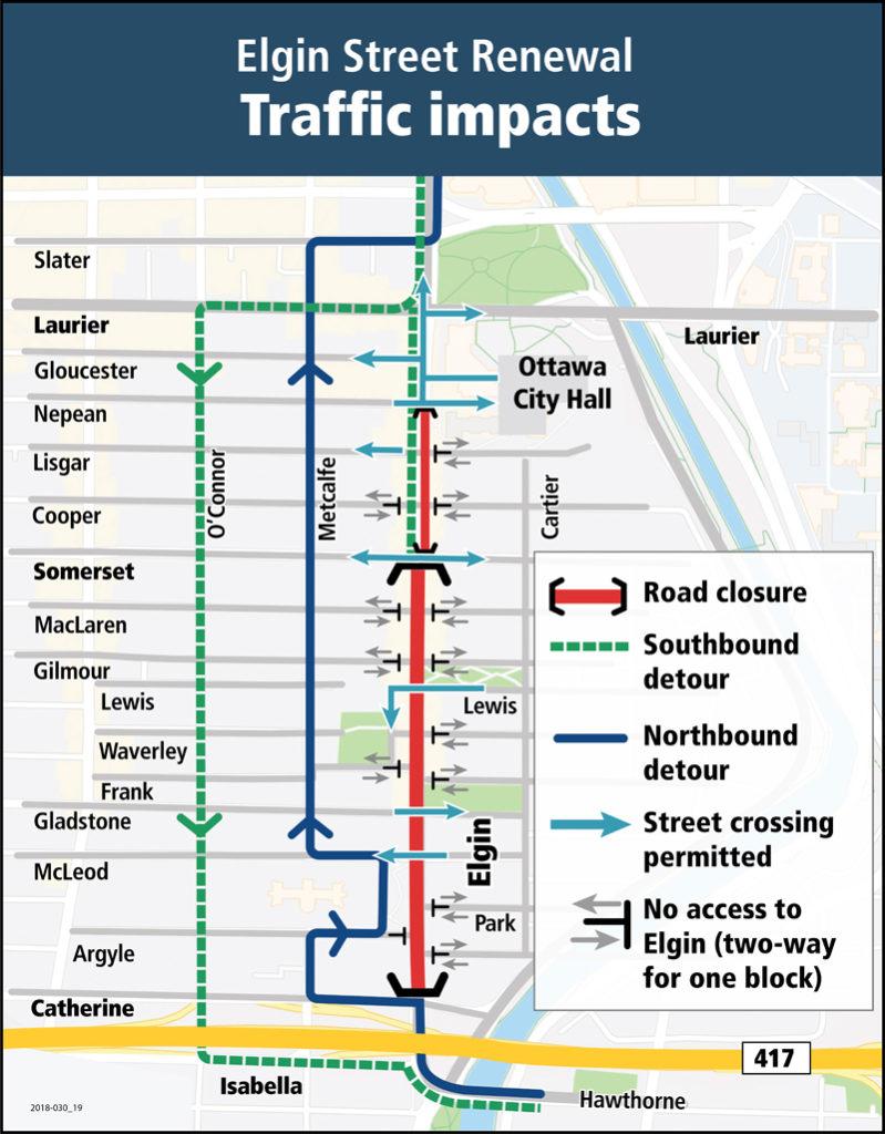 Elgin Street closure - detours for drivers